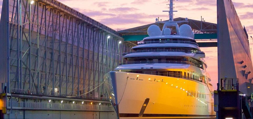 Superyachts on steroids: Sales of 'floating palaces' DOUBLE to £2.4 billion a year… and here are the top 15 at the crest of the wave